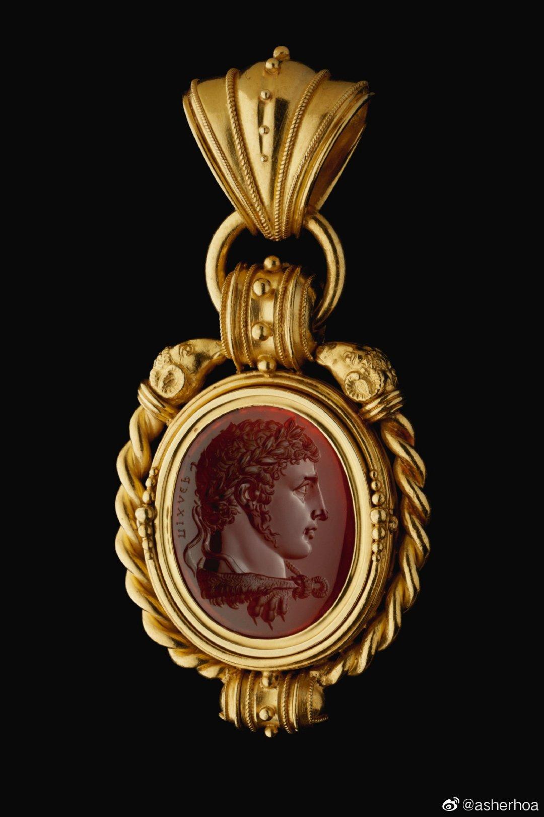 意大利宝石雕刻家Luigi Pichler(1773-1854)1810年左右创作与罗马的