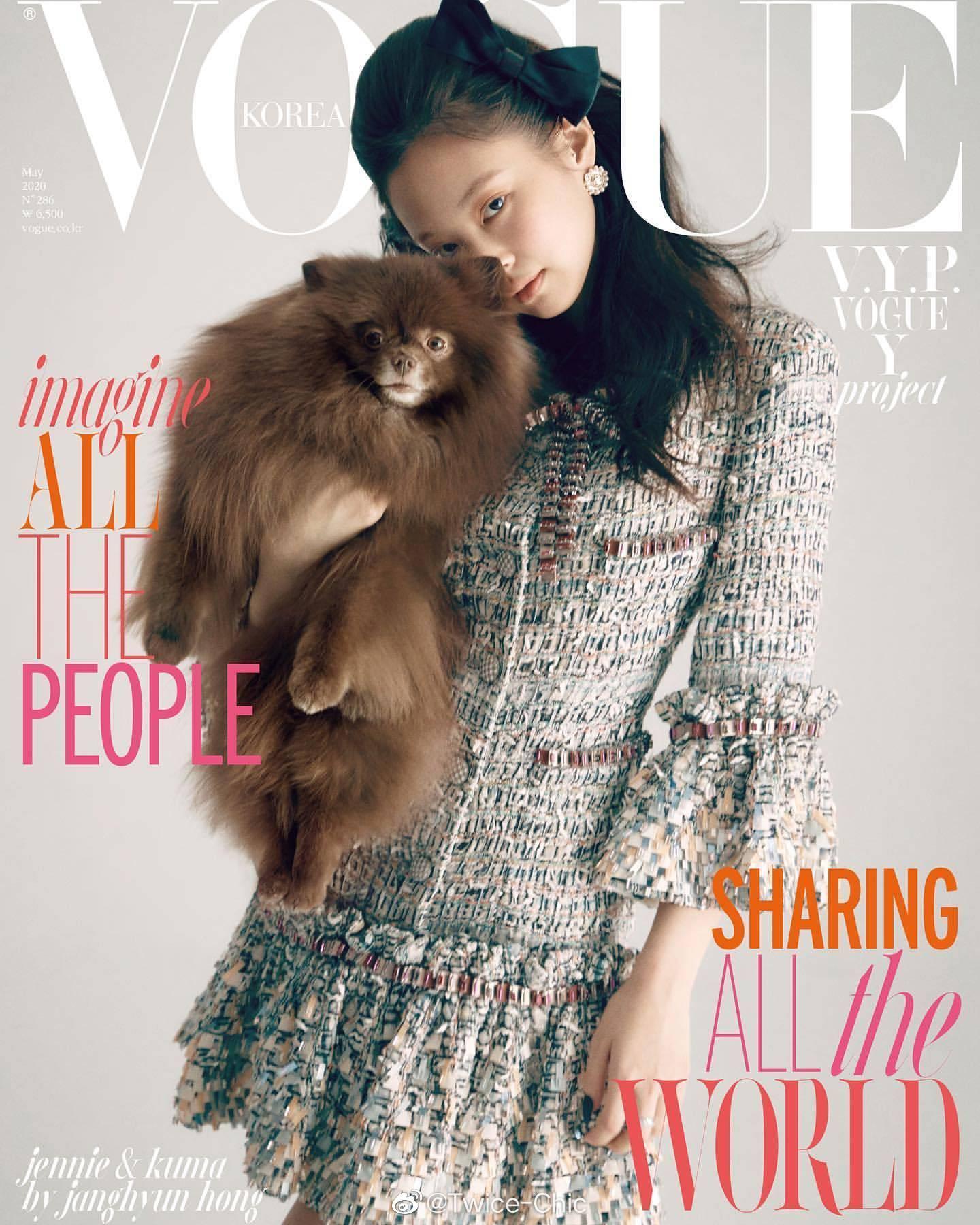 韩版时尚杂志5月刊封面盘点「Jennie - VOGUE   金高银 - ELLE