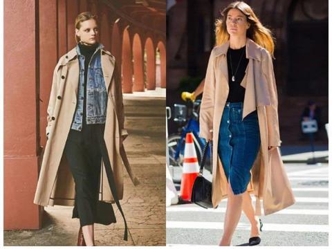 外套搭配:风衣+牛仔裤,风衣+阔腿裤,2020秋季最时髦穿法来了!
