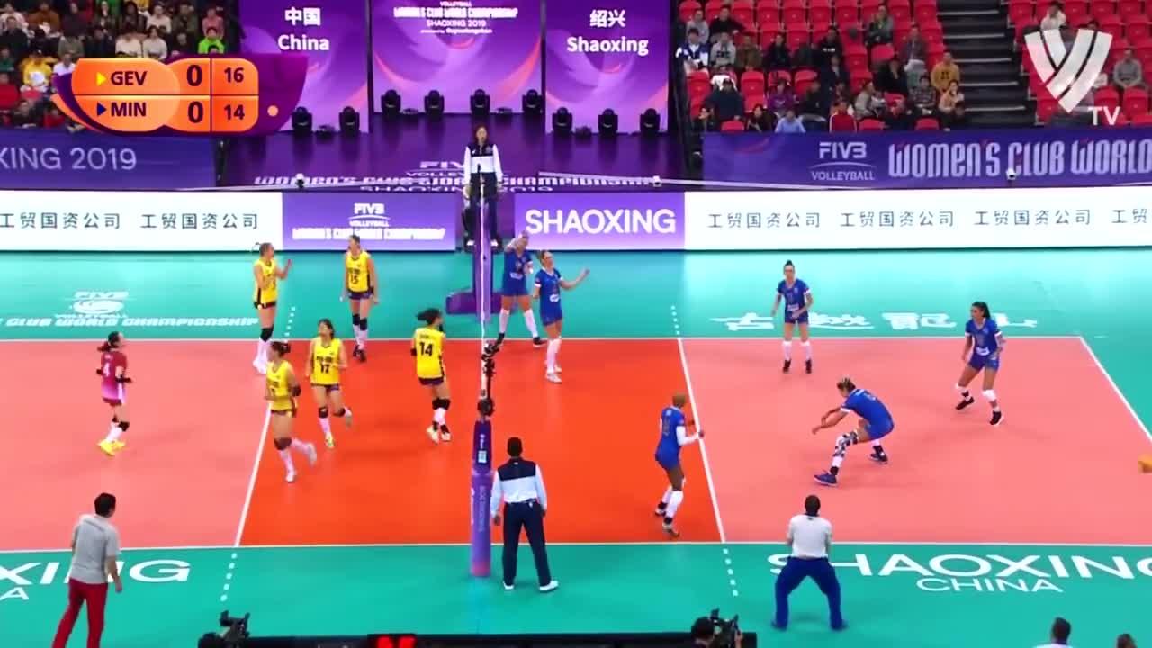 2019年女排世俱杯上,广东恒大女排主攻科舍列娃的精彩集锦…………