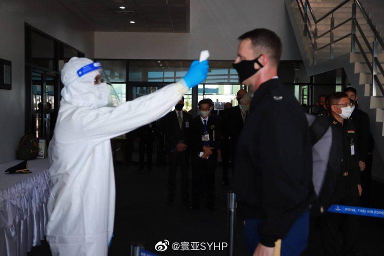 美国陆军参谋长詹姆斯·麦康维尔参观泰国曼谷武装部队医学科学研究所