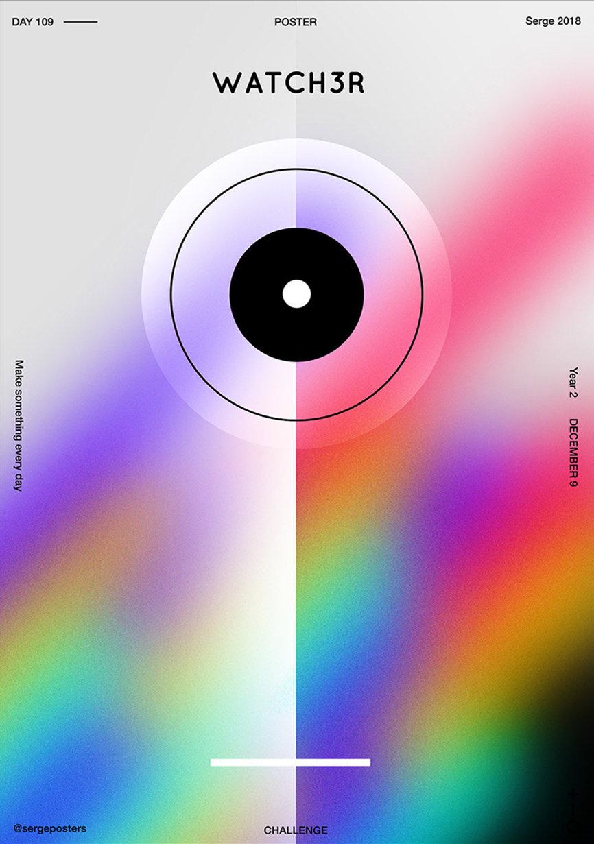 专注于对渐变色彩与几何形状的波兰设计师 Jakub Serge Malec。