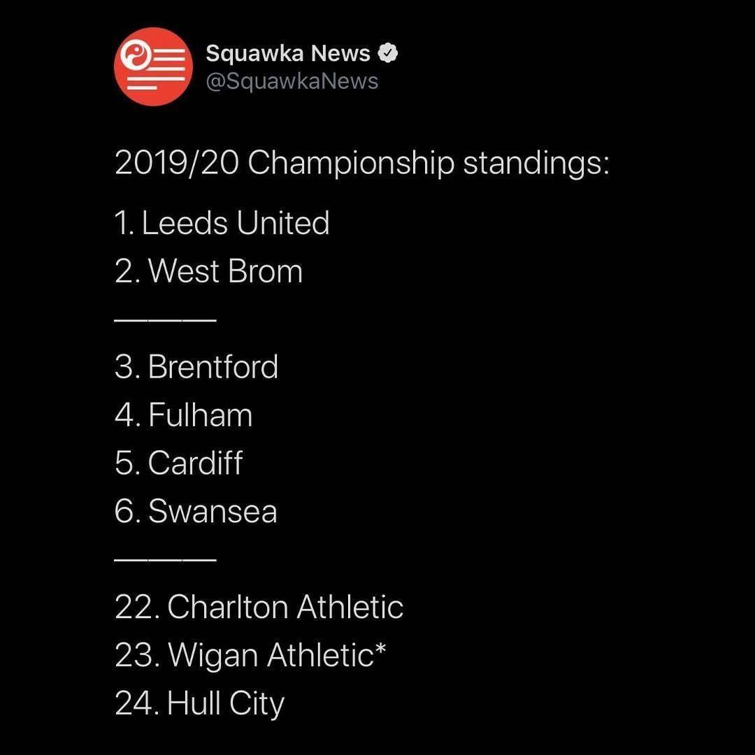 英冠也迎来大结局,利兹联获得英冠冠军,中资球队西布朗也成功晋级