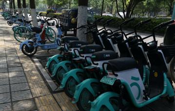 荆州中心城区共享电单车陆续上牌
