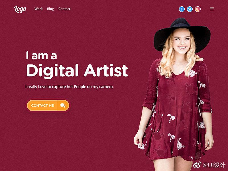 简洁潮流大气的极具创意的网页设计界面ui设计分享