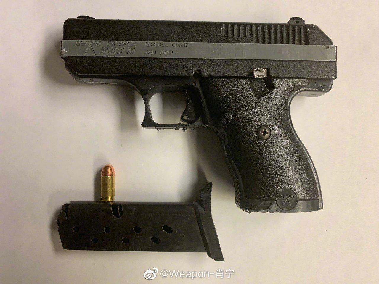 美国纽约市警察局近期在街头抗议活动中收缴的一些非法武器