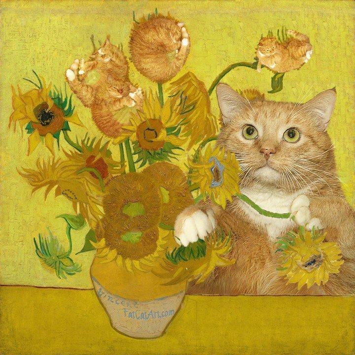 闯入世界名画的胖胖橘Fat Cat Art 🐱