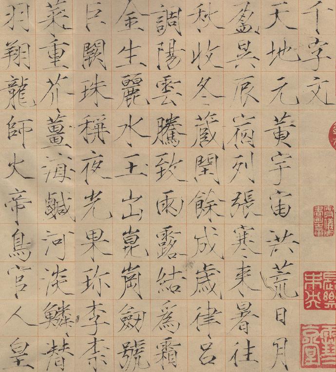 此《千字文》是宋徽宗赵佶赐给童贯的,用小楷书写