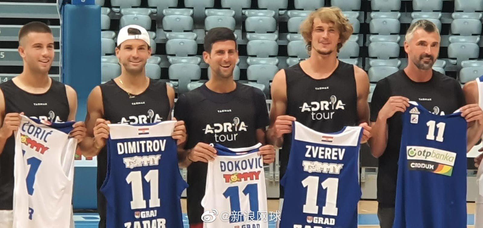 小德、迪米特洛夫、兹维列夫、丘里奇在克罗地亚扎达尔参加篮球赛
