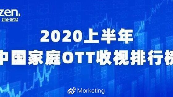 2020上半年中国家庭OTT收视排行榜发布:频道收视率湖南卫视位列第一