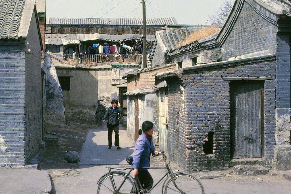 北京前门地区街景,1986年。尼尔森