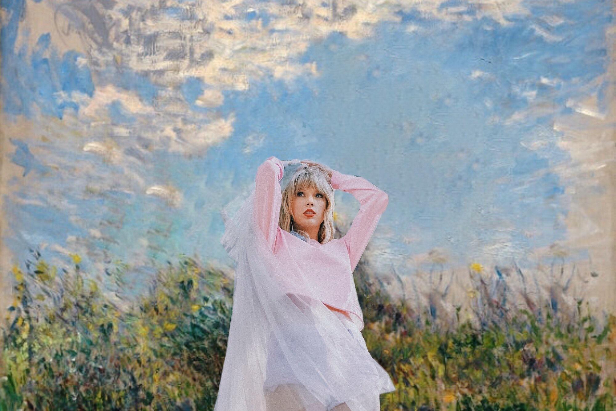 霉霉Taylor Swift和油画。(Twitter:almostfuckingdo)