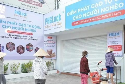 新冠肺炎疫情期间,越南胡志明市出现漏斗式粮店