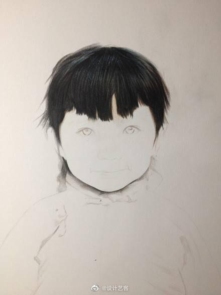 可爱的女孩油画肖像绘画过程,一起来画吧…