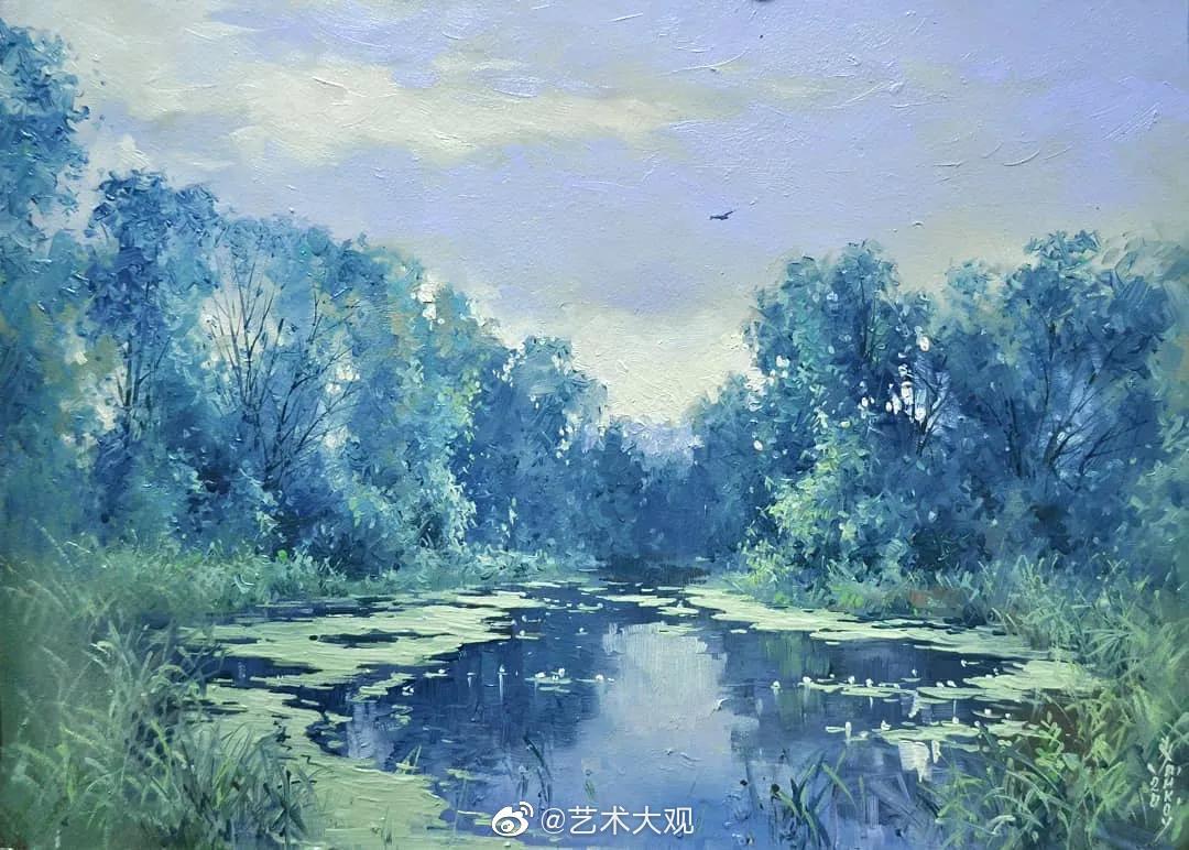 俄罗斯画家伊戈尔·哈伊科夫风景水彩画欣赏-3