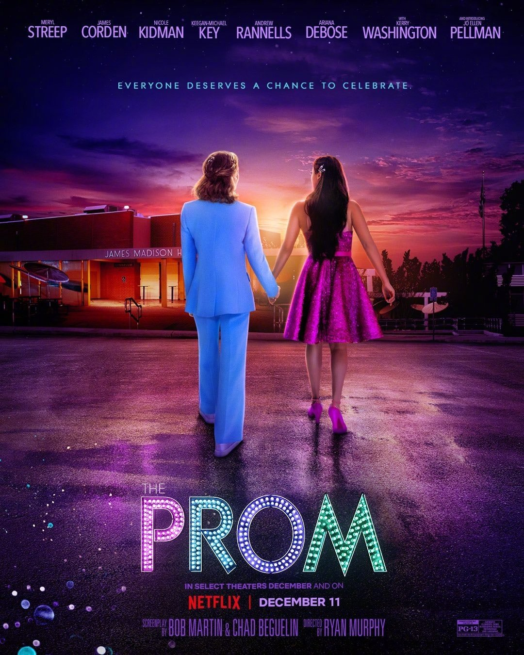 Netflix歌舞片《舞会》发布新海报!影片改编自百老汇同名音乐剧