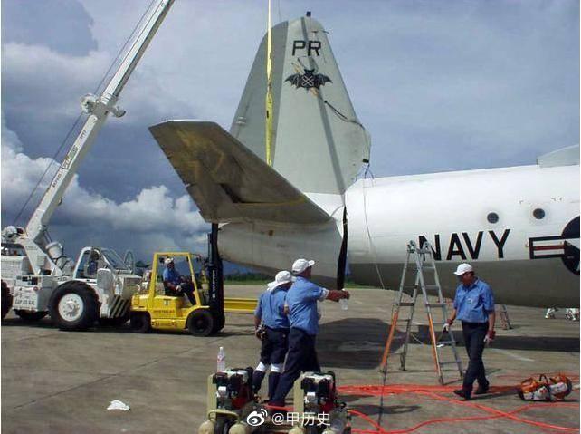 直击2001年被王伟迫降的美EP-3侦察机在海南被拆解全过程
