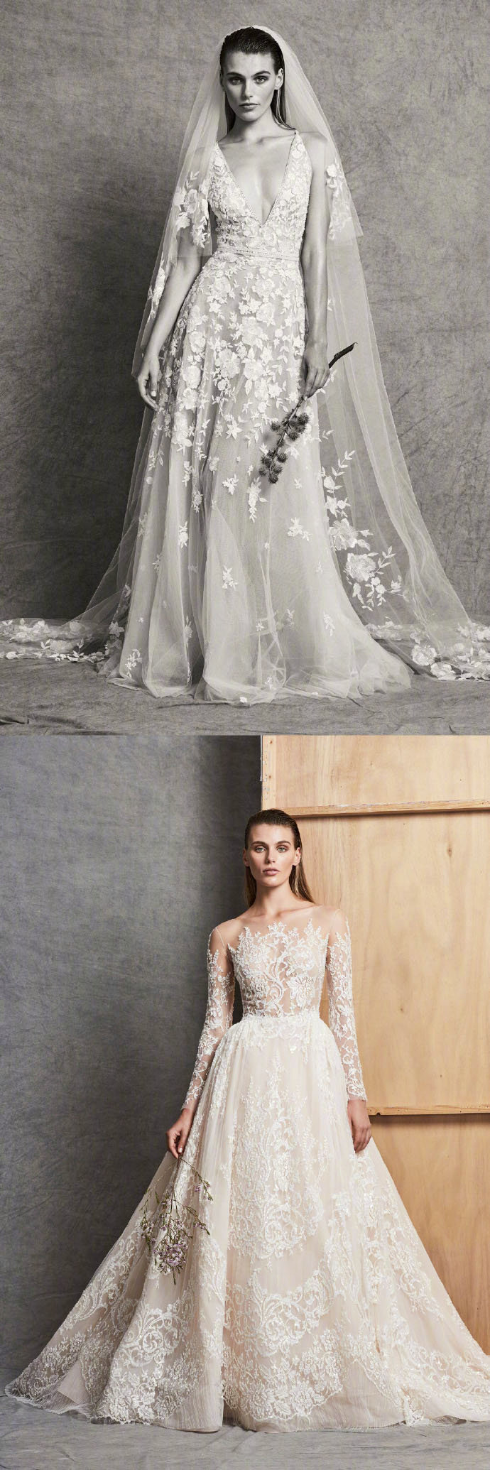 绝美婚纱合集,鱼尾裙摆的婚纱礼服近几年非常流行