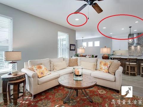 客厅装修怎么选择灯具,装射灯还是筒灯?