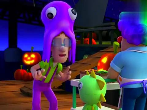 汪汪队:莱德还有市长他们,都来参加阿宝船长幽灵船的派对了!