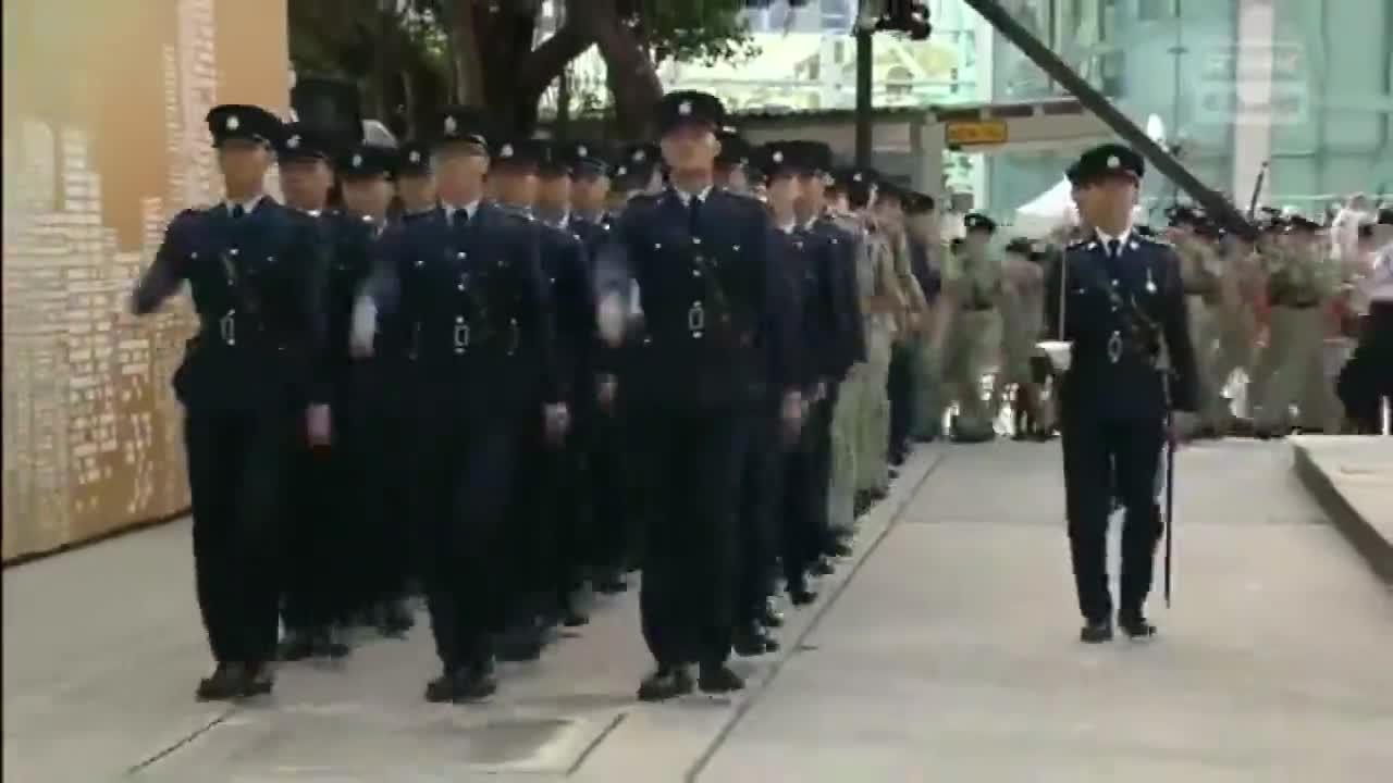 上午金紫荊廣場升旗典禮