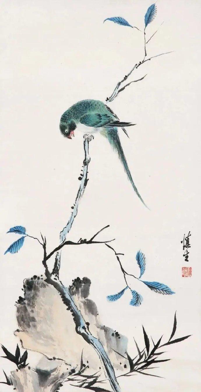 汪溶 ,师古人,师造化,通过勤奋让他在花鸟画坛中极富盛名。