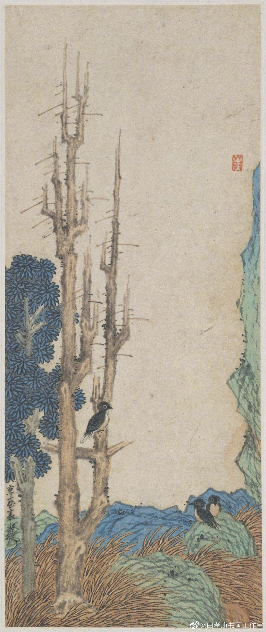 明代陈洪绶《杂画册》,现藏于纽约大都会艺术博物馆