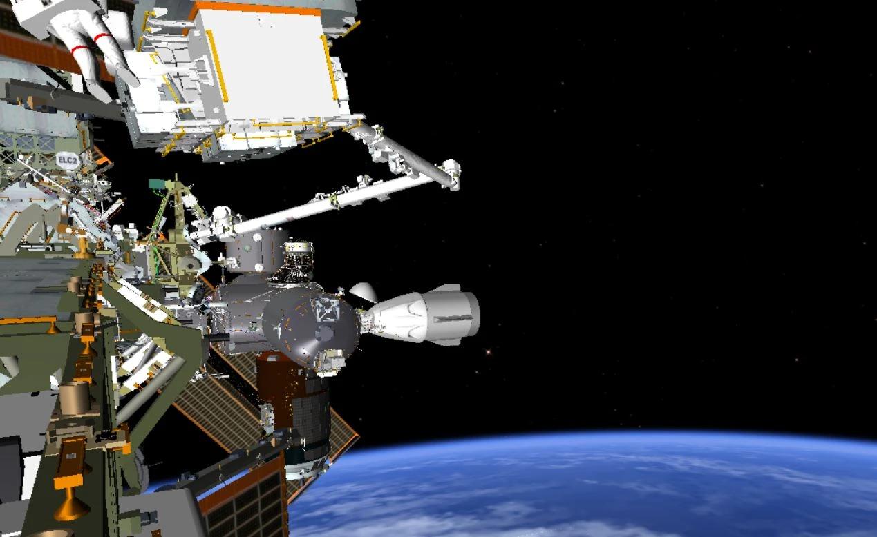 宇航员说,在太空行走过程中,SpaceX载人飞船的太空舱看起来很棒