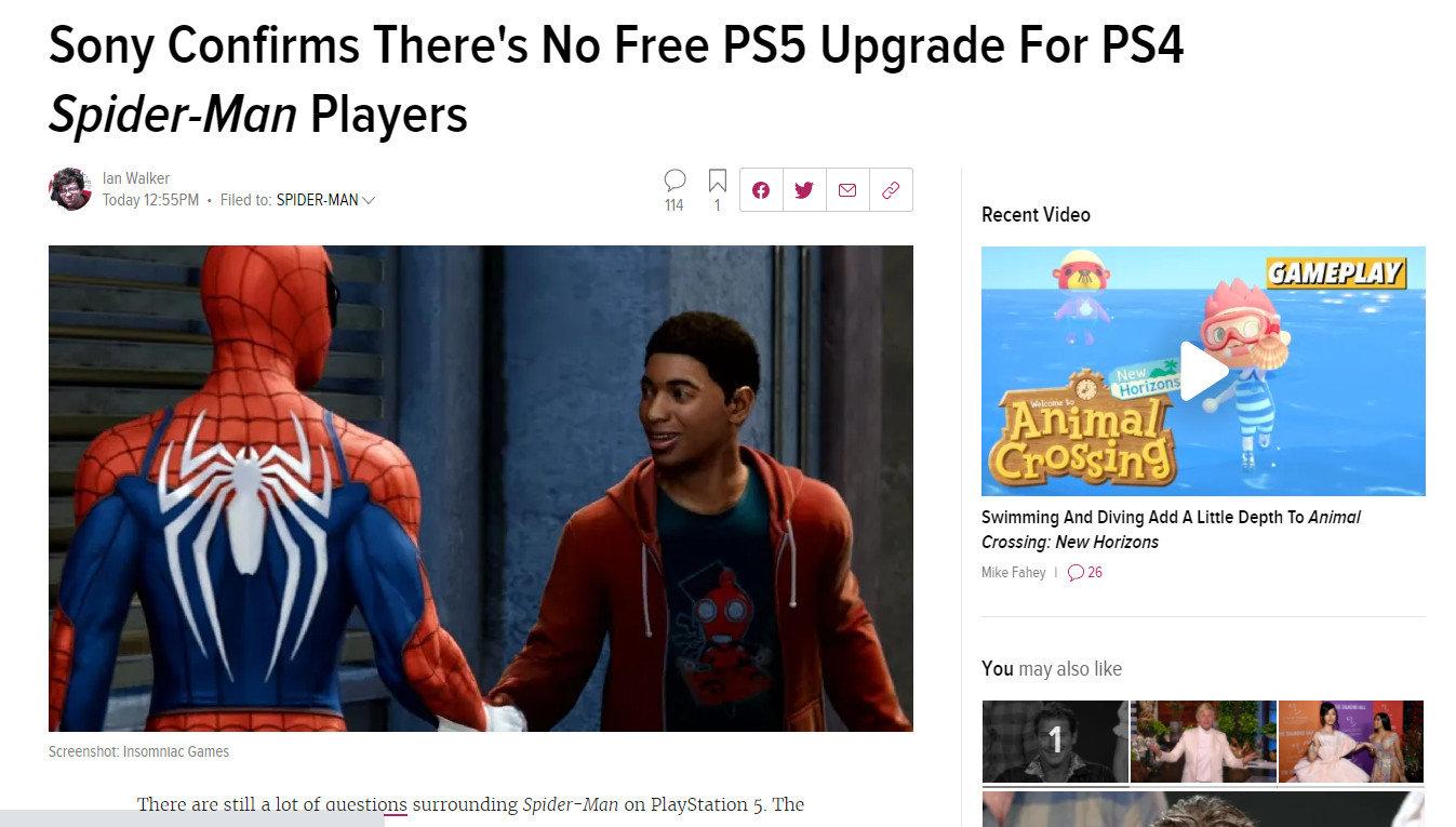 想玩次世代《蜘蛛侠》?必须买《蜘蛛侠:迈尔斯》