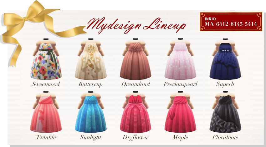 来自服装品牌Aimer分享的《集合啦!动物森友会》圣诞节礼服设计
