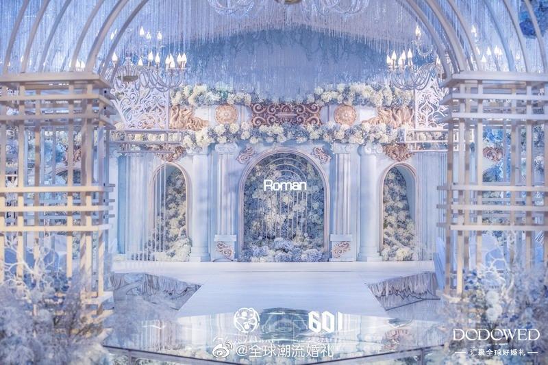 su601婚礼堂设计落地案例  婚礼策划:@SU601_张宇