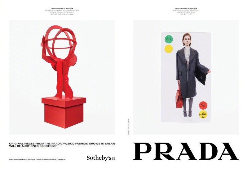 Prada  2020秋冬广告大片,Gigi Hadid,Maty Fall