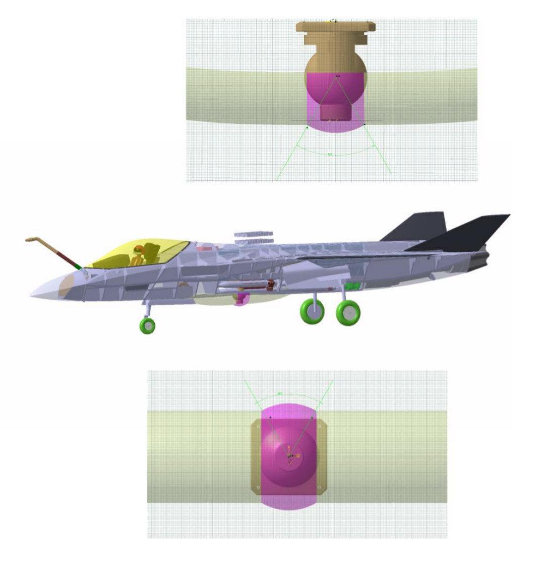 萨博的激光武器战斗机方案。