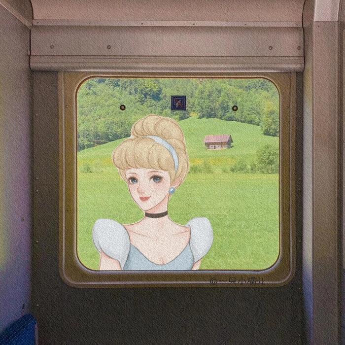 迪士尼公主 cr:@一只小橘儿