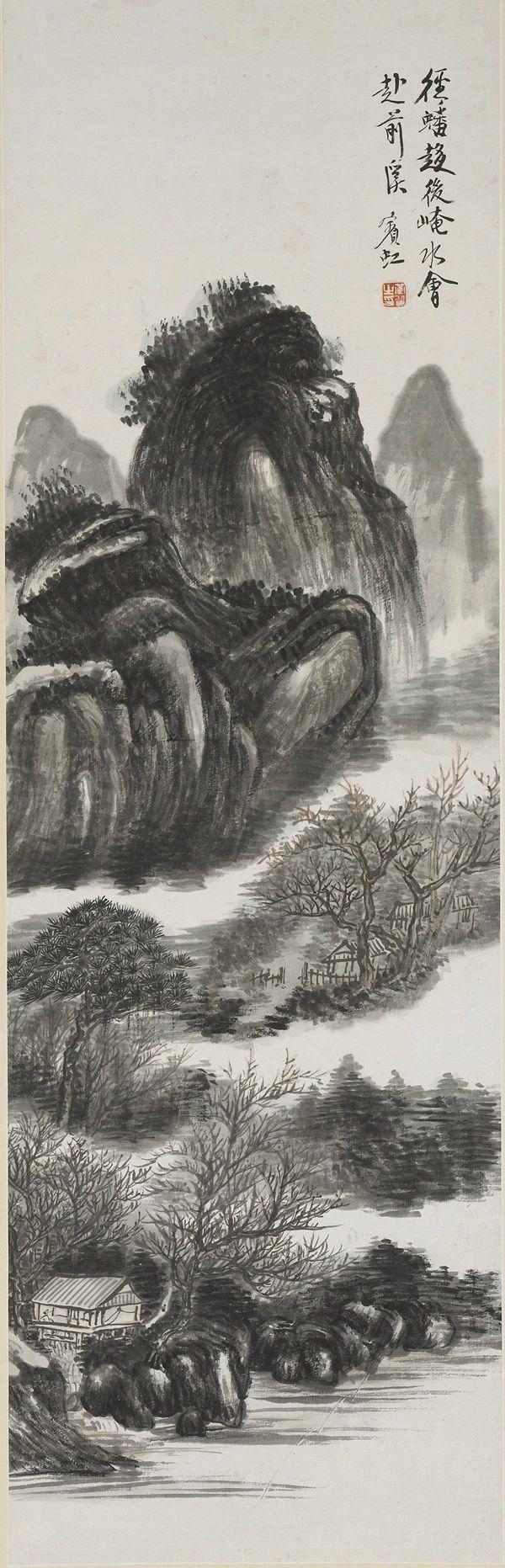 黄宾虹生前极力反对炒作自己,他拒绝张大千门人的热捧