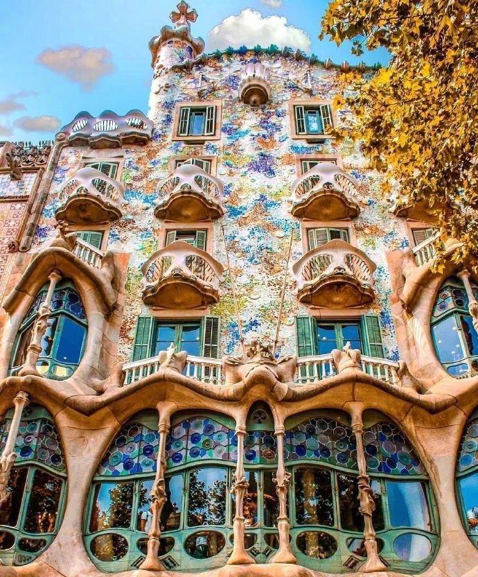 巴塞罗那高迪的建筑巴特罗之家