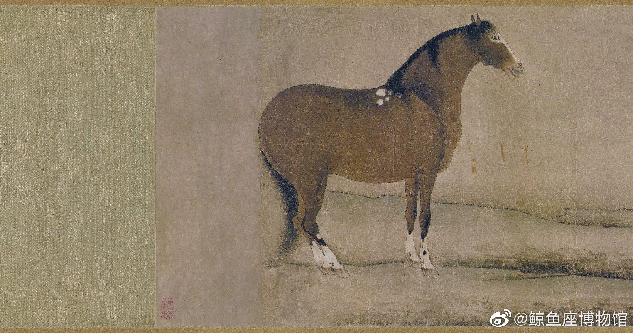 | 十六神骏图 | 唐 | 韩幹 | 手卷,纸本设色,27x333cm