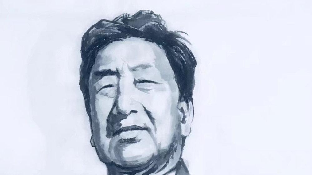 《中国百年文化巨匠水墨肖像》——贺敬之