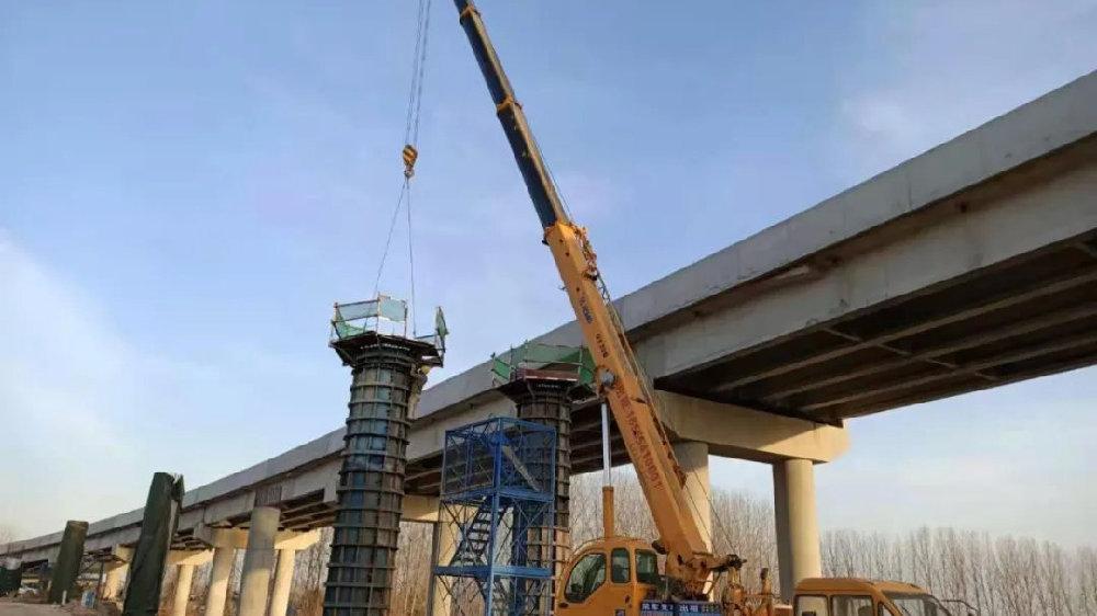 直击寿县这座大桥建设现场