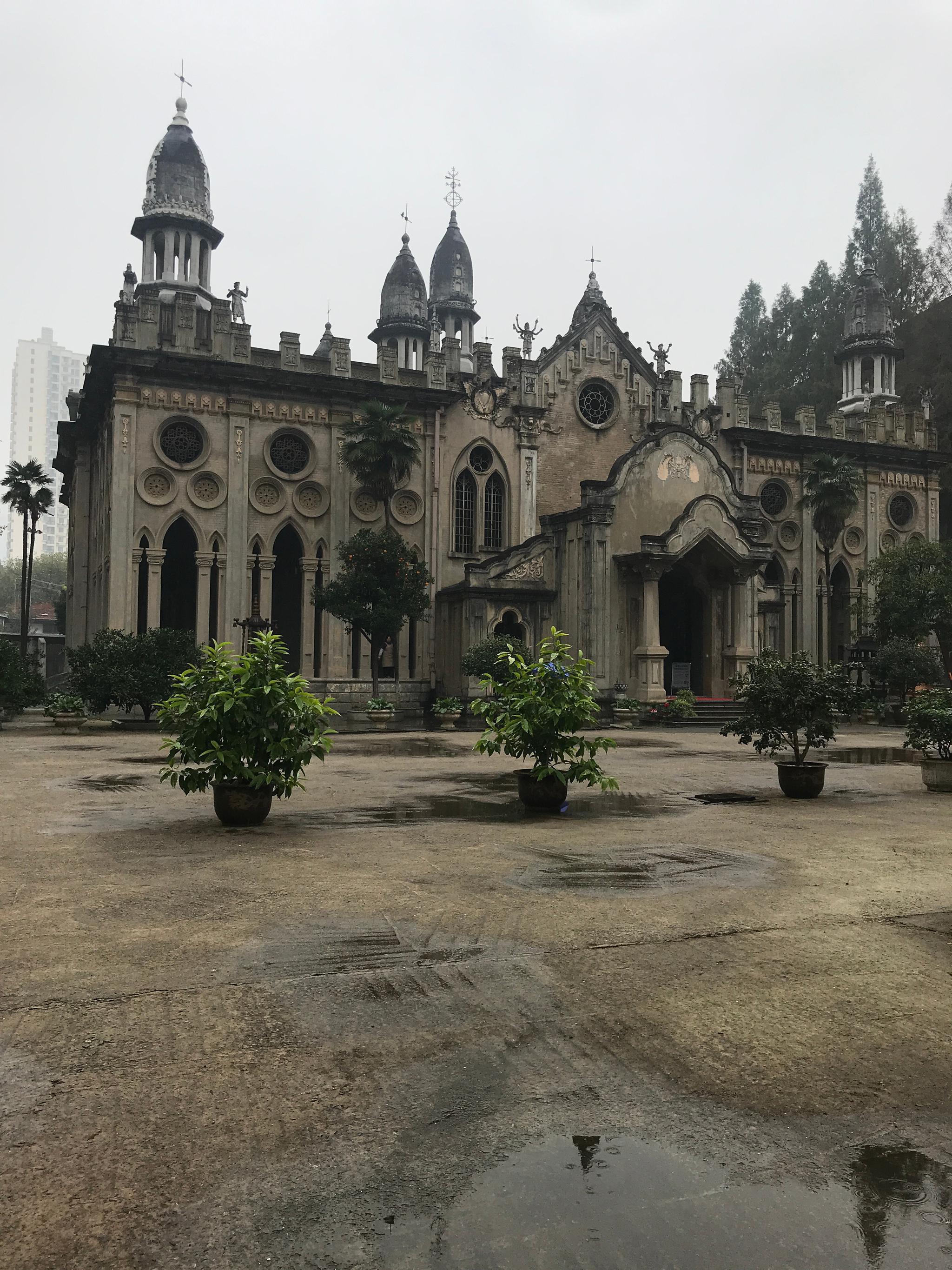小雨中游览 武汉古德寺 国保七批   汉传佛教寺院 特殊的建筑风格