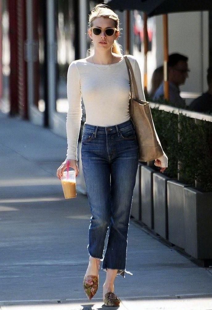 艾玛·罗伯茨Emma Roberts的时尚街拍———小个子女生的穿衣典范
