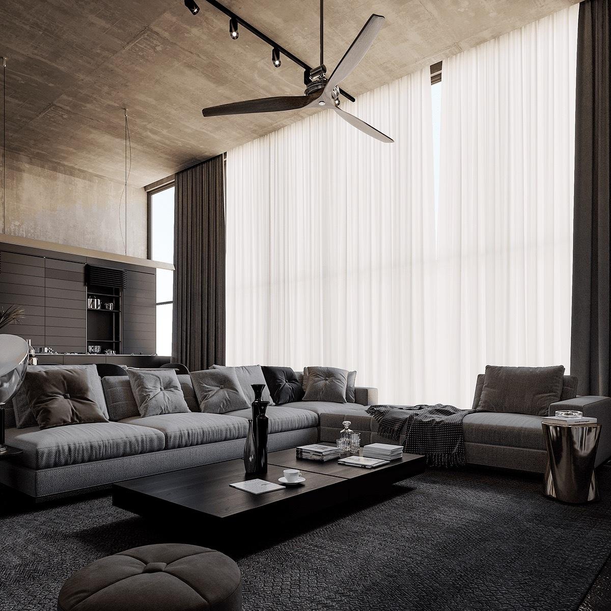 水泥灰的时尚,简约高级 汕头室内设计/潮阳揭阳普宁潮州室内设计