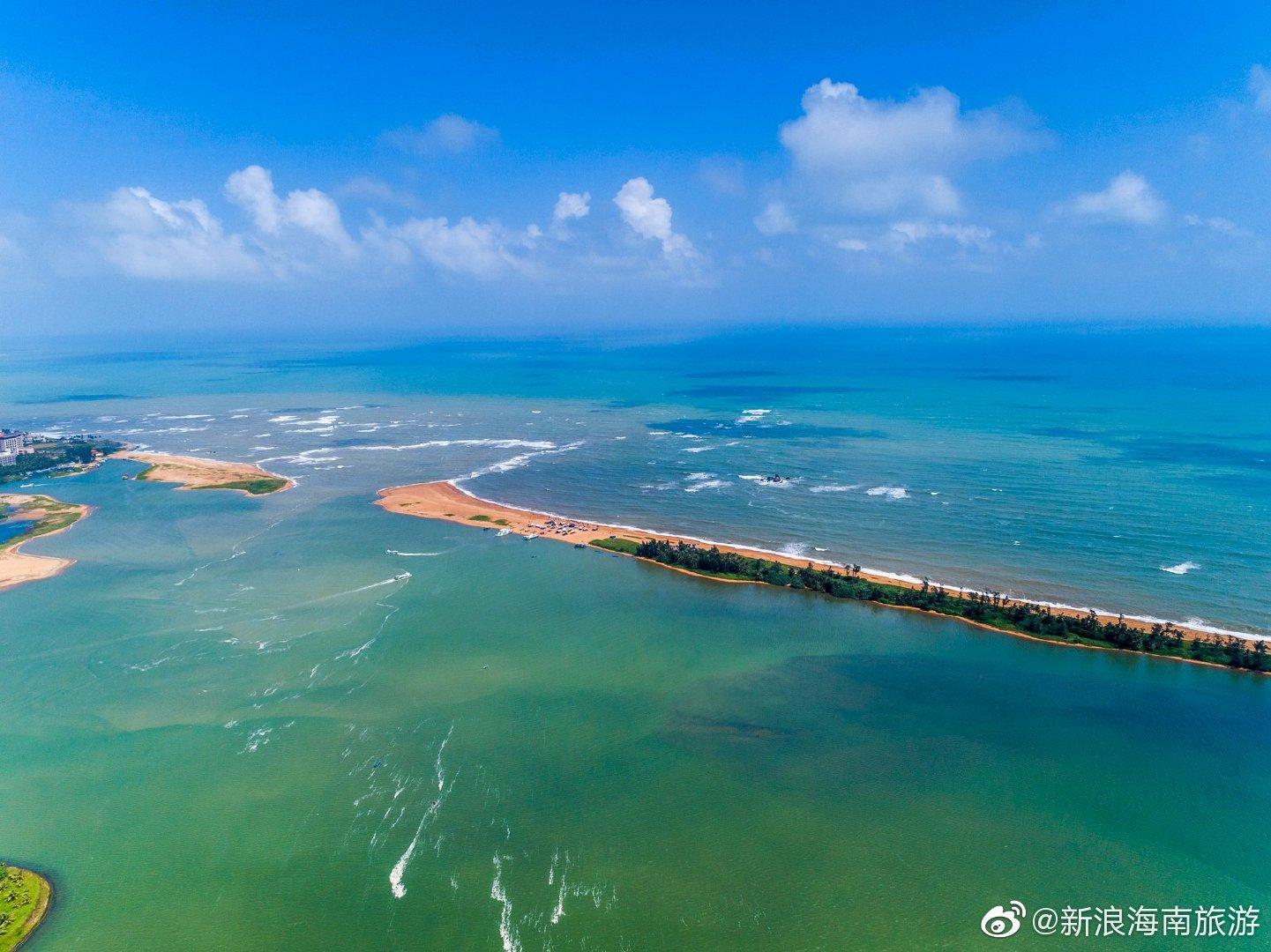 玉带滩是琼海市博鳌镇一处沙滩半岛