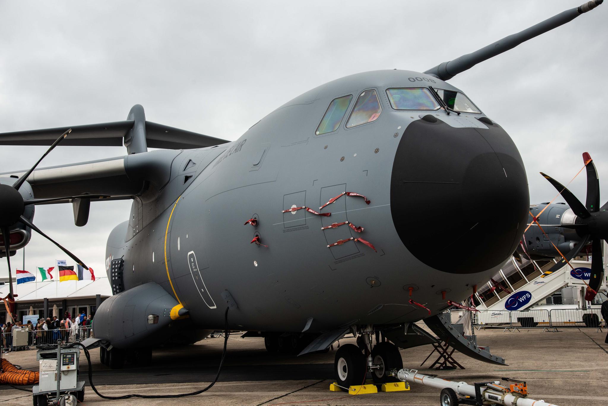上次见到A400M还是在巴黎航展上