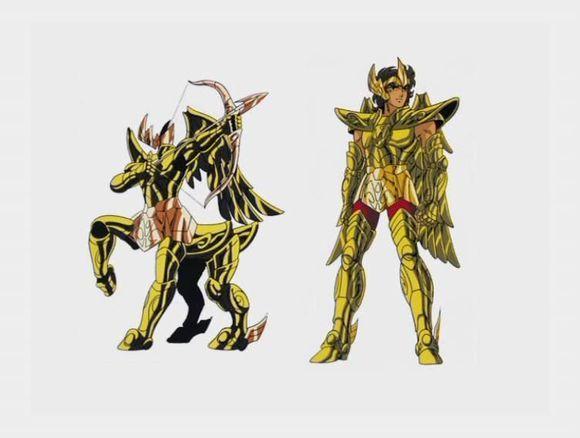 动画《圣斗士星矢》原画鉴赏(二百三十六)十二黄金圣斗士线稿设定