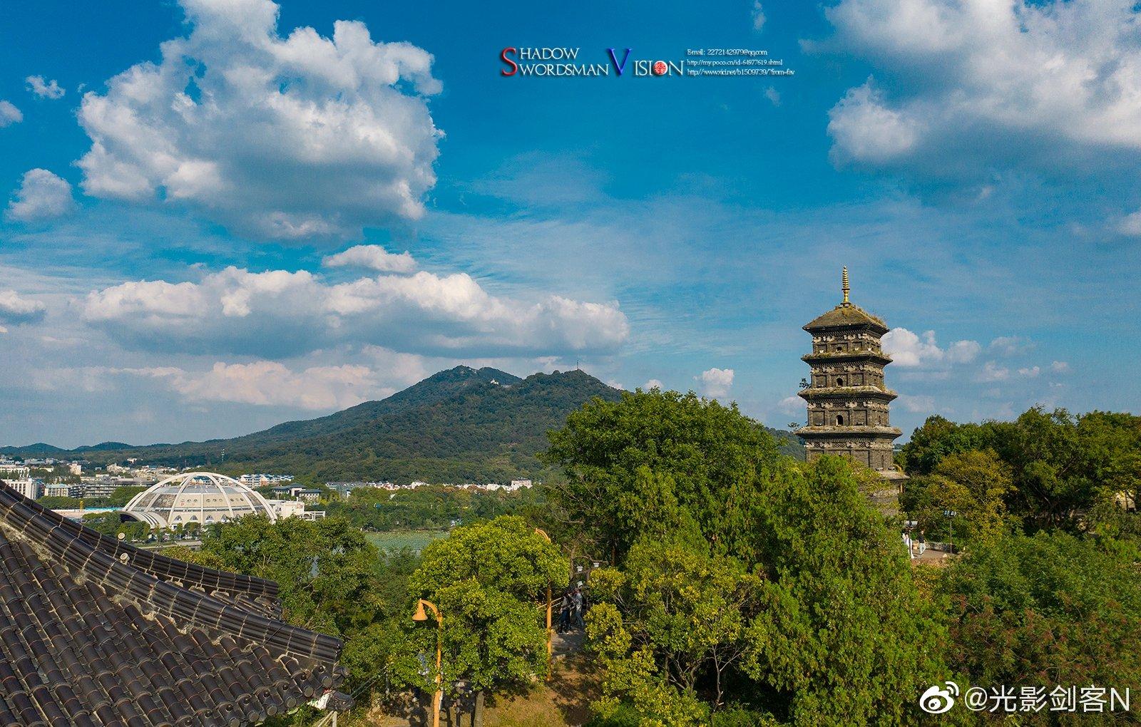 南京九华山 --玄奘寺 南京九华山又名覆舟山,山形狭长,顶呈平行