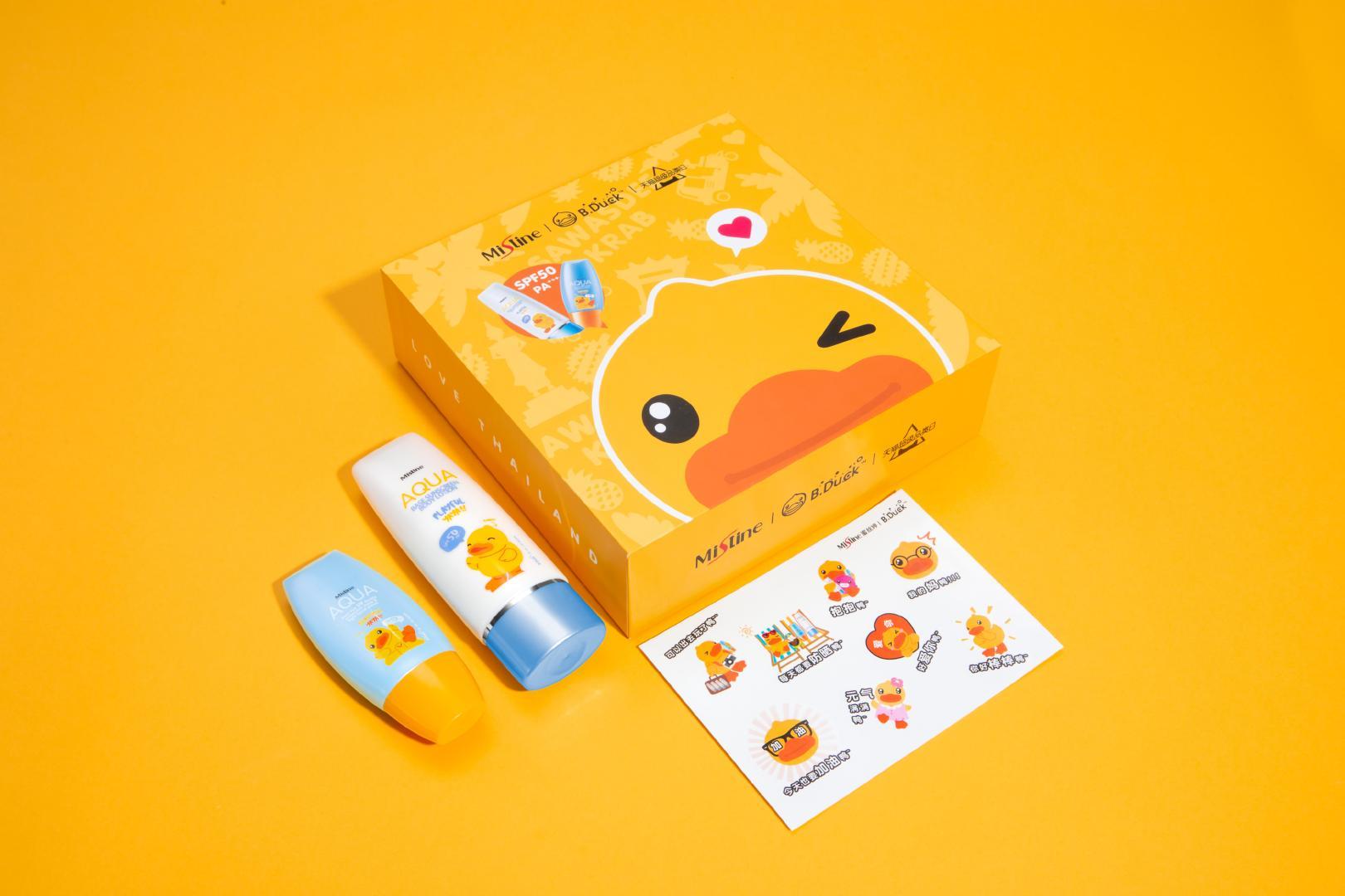 Mistine的小黄帽、小蓝帽是防晒届的楚翘,而小黄鸭不愧是网红鸭