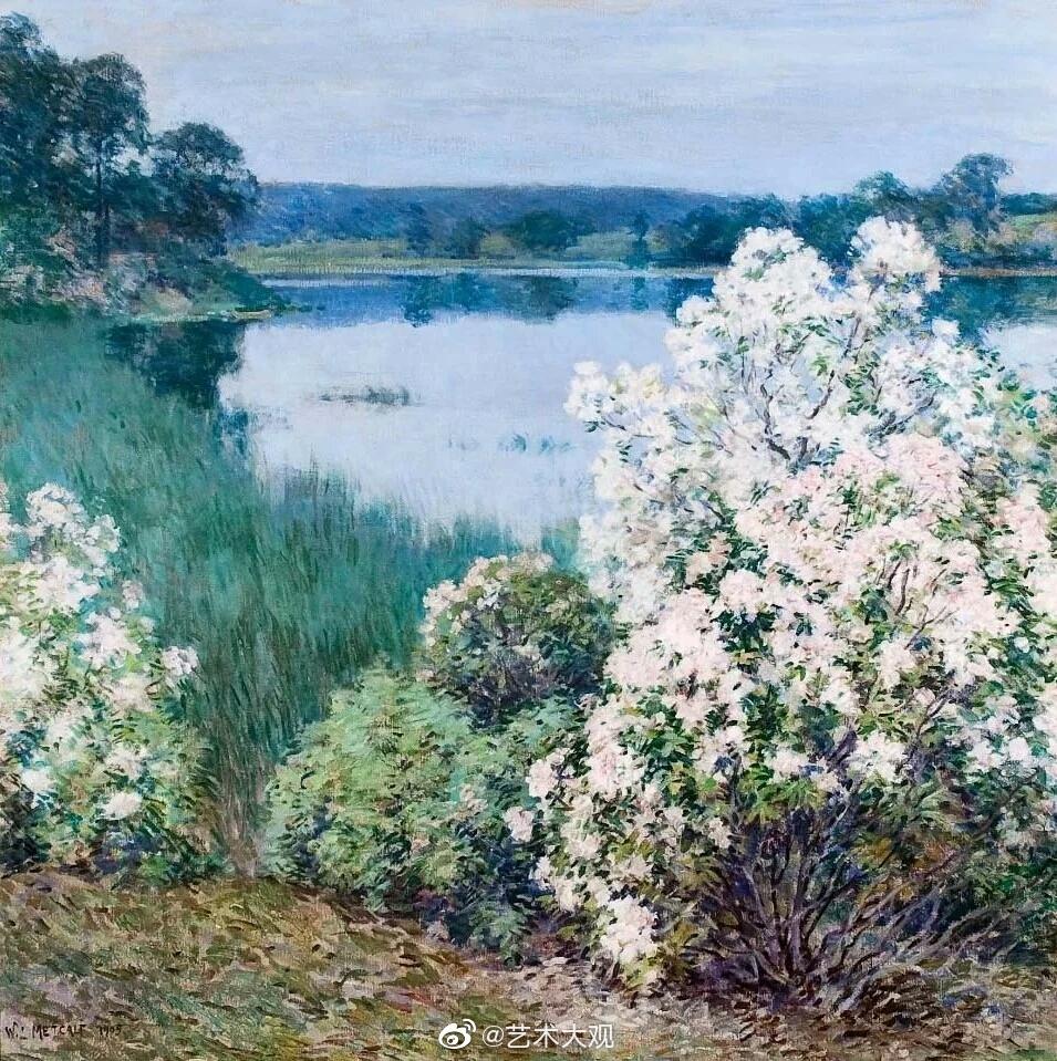 美国画家威拉德·乐华·梅特卡夫风景油画专辑-3Willard Leroy Metcalf