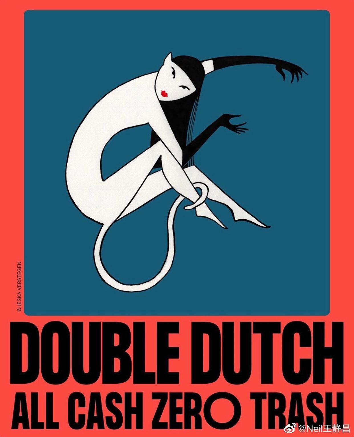 阿姆斯特丹插画家Jeska Verstegen给@贺聪HeCong 画的猫女插画!