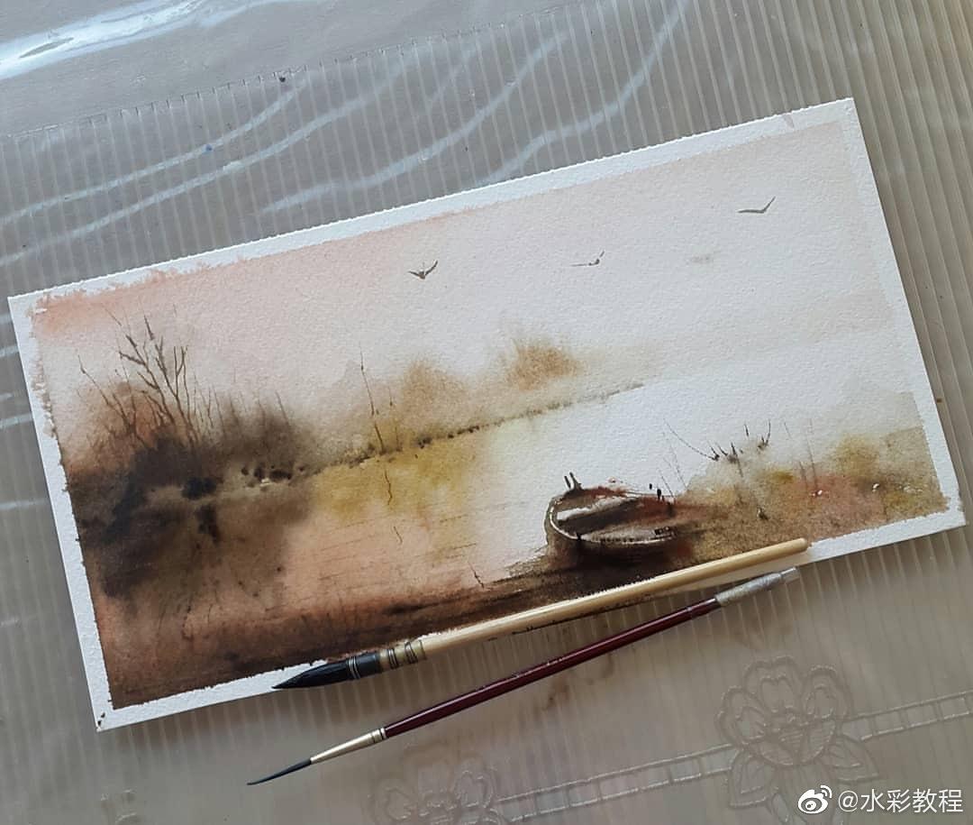 水彩风景作品欣赏 by ins:meryempervin